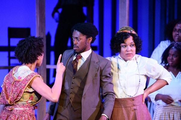 Victoria Aaliyah Goins as Squeak, Garrick Vaughan as Harpo, and Donnie Hammond as Sophia.