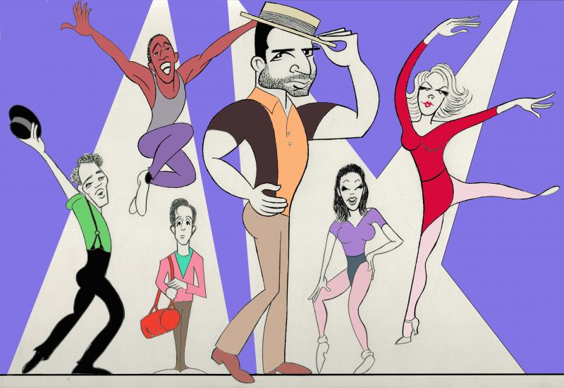 BWW Exclusive: Ken Fallin Draws the Stage - A CHORUS LINE!