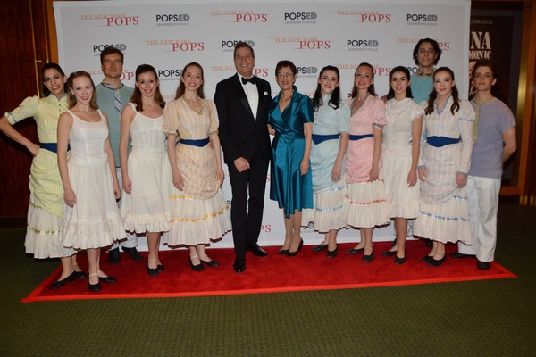 Steven Reineke with members of New York Theatre Ballet that includes-Alexis Branagan, Photo
