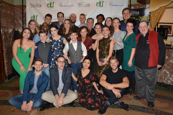 The Cast and Creative of Elf The Musical that includes Matt Kunkel, Mara Newberry Gre Photo