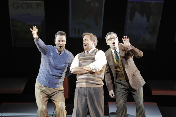 Joshua Hopkins as Harry Bailey, William Burden as George Bailey and Keith Jameson as Uncle Billy Bailey