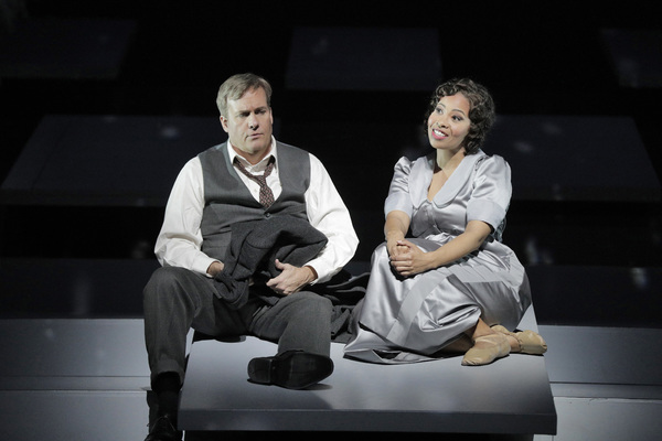 William Burden as George Bailey and Golda Schultz as Clara