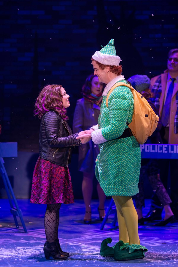 Caitlin Gallogly (Jovie) and Erik Gratton (Buddy the Elf)