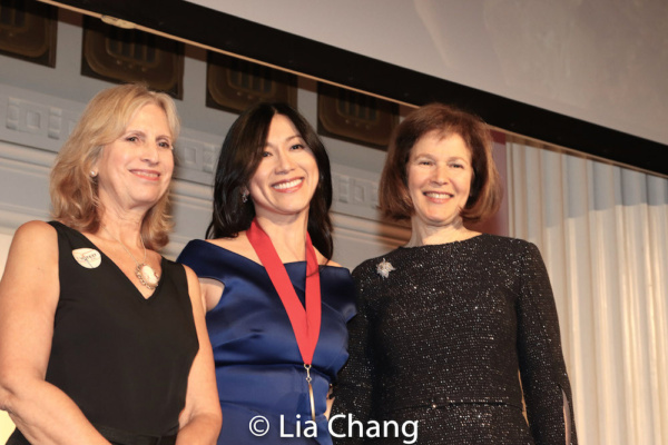 Louise Mirrer, President and CEO, New-York Historical Society, honoree Dr. H.M. Agnes Hsu-Tang, and Pam B. Schafler, Chair, New-York Historical Society