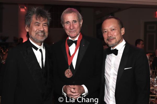 Playwright David Henry Hwang, honoree Jim Dale, Rob Wong