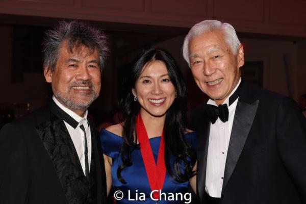 Playwright David Henry Hwang, honoree Dr. H.M. Agnes Hsu-Tang and her husband Oscar Tang