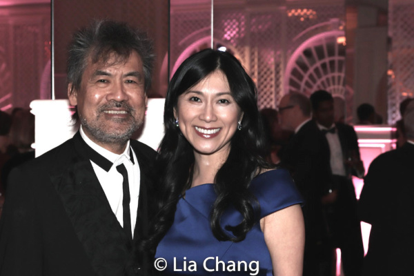 Playwright David Henry Hwang and honoree Dr. H.M. Agnes Hsu-Tang