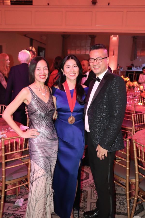 Lia Chang, honoree Dr. H.M. Agnes Hsu-Tang and Andy Chen