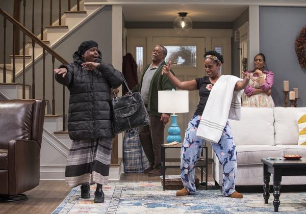 Cheryl Lynn Bruce (Anne), Cedric Young (Donald Chinyaramwira) and Celeste M. Cooper (Nyasha) and Ora Jones (Marvelous Chinyaramwira)