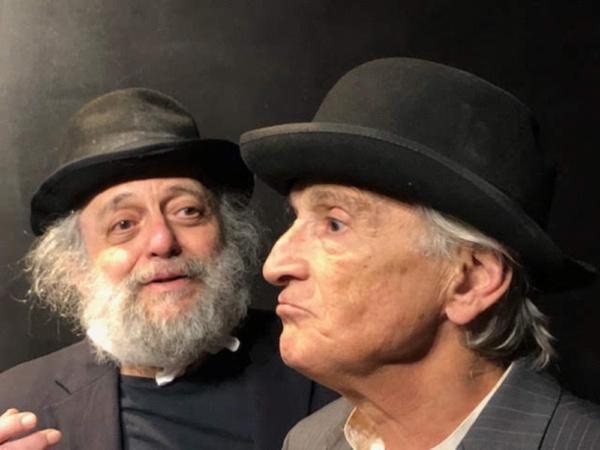David Mandelbaum as Estragon and Rafael Goldwaser as Vladimir Photo