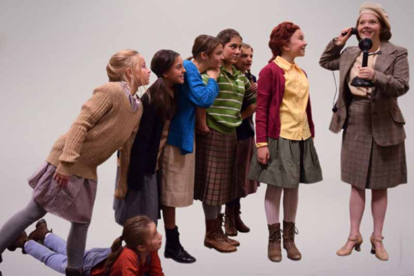 Nancy Pereyra as Tessie, Tess Clark as Molly, Violet Caruso as Kate, Mary Young as Ju Photo