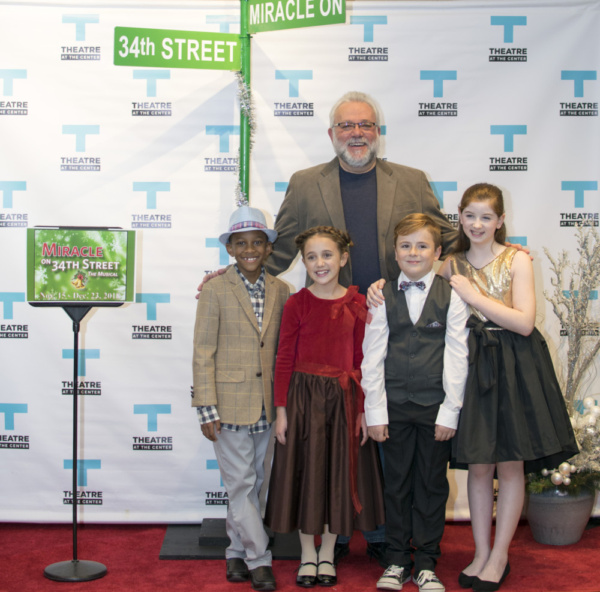 Actor Neil Friedman with young cast members Amir Henderson, Liliana Rene, Ethan Solis and Stella Rose Hoyt