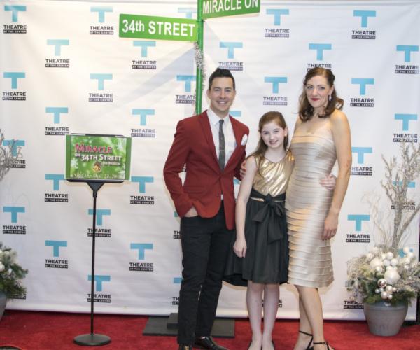 Actors Christopher Kale Jones, Courtney Jones and Stella Rose Hoyt