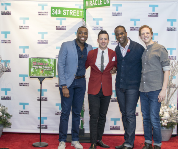 Actors Trequon Tate, Christopher Kale Jones, Chris Carter and Sam Shankman Photo