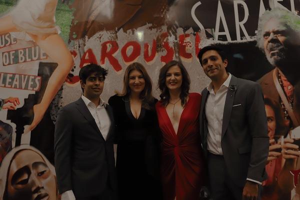 Eshan Bajpay, Tara Summers,  Eleanor Handley, and  Photo