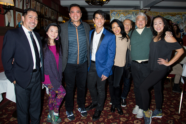 Telly Leung and FLOWER DRUM SONG cast members