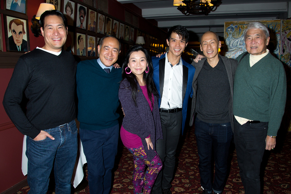 Telly Leung and PACIFIC OVERTURES cast members