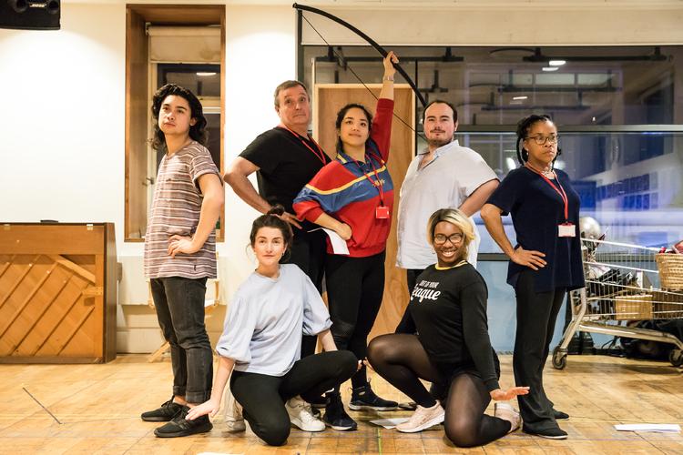 Cast Hi-Res Photo - Photo Flash: Inside Rehearsal For SLEEPING
