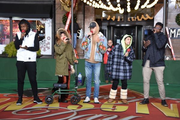 Pentatonix-Matt Sallee, Kristin Maldonado, Scott Hoying, Mitch Grassi and Kevin Olusola