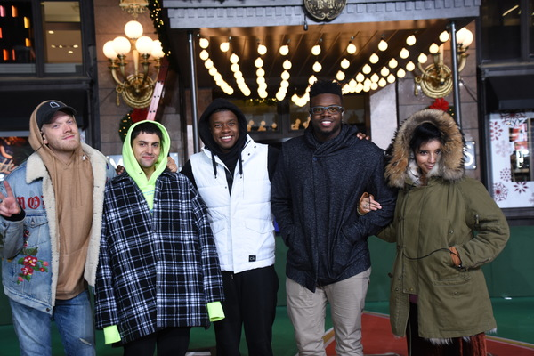 Scott Hoying, Mitch Grassi, Matt Sallee, Kevin Olusola and Kristin Maldonado