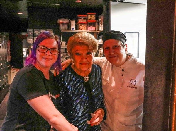 Amanda Raymond, Head Audio, Marilyn Maye, Executive Chef Lynn Bound