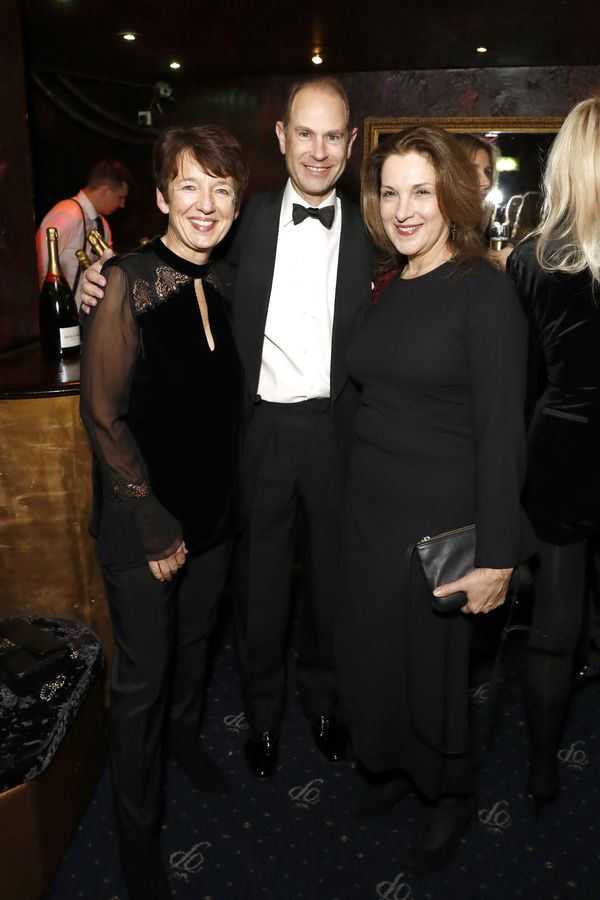Dawn Airey Chief Executive Officer of Getty Images, Prince Edward, Earl of Wessex and Barbara Broccoli