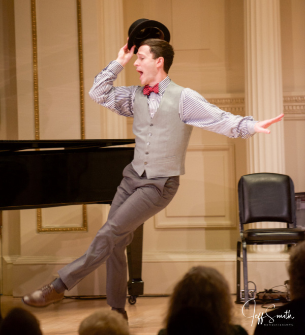 Cary Tedder dazzles with some fancy footwork, while performing Listen Up! from the mu Photo