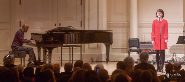Sara Esty performs Mrs. Rockwell with Musical Director Timmothy Graphenreed at the pi Photo
