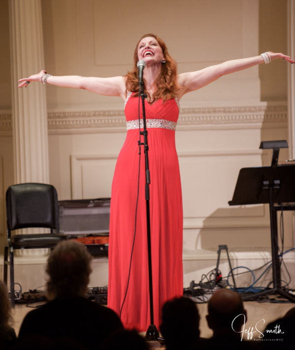 Helen Hayes Award-winning Broadway and television actress, Rachel York, performing I Keep Christmas in my Pocket from the Norman Rockwell musical by the Bluestone Sisters.