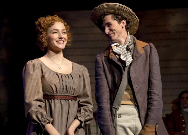 Zoya Martin and Kristofer Buxton as Harriet Smith and Robert Martin
