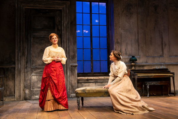(L to R) Kellie Overbey and Lily Santiago in A Doll's House, Part 2 by Lucas Hnath at George Street Playhouse, November 27 thru December 27. Photo by T. Charles Erickson.