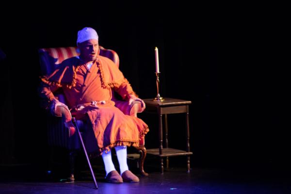 Scrooge (Eric Fletcher)  Photo: Martin Harris