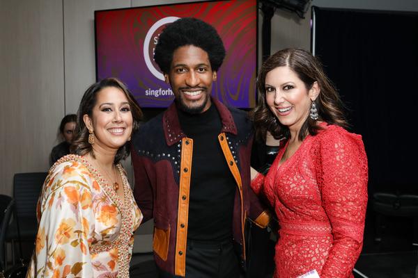 Monica Yunus, Jon Batiste and Camille Zamora