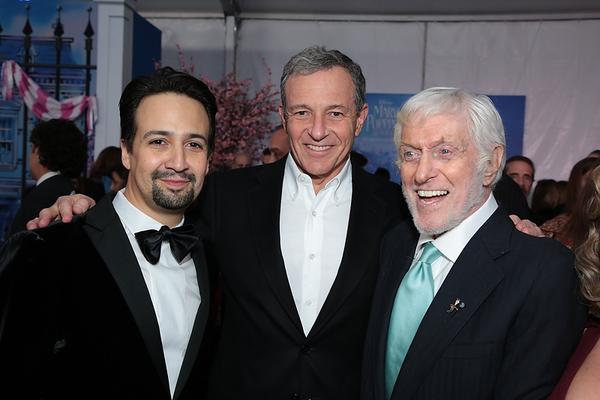 Lin-Manuel Miranda, Bob Iger and Dick Van Dyke