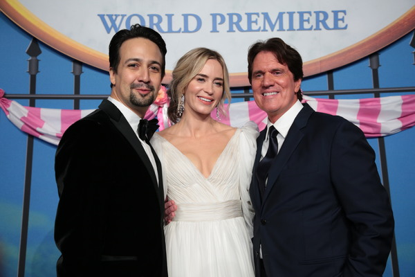 Lin-Manuel Miranda, Emily Blunt and Rob Marshall