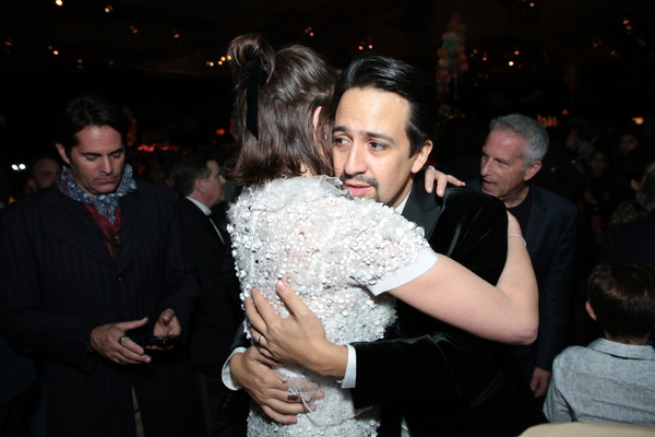 Emily Mortimer and Lin-Manuel Miranda