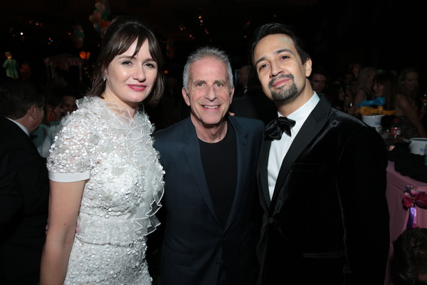 Emily Mortimer, Marc Platt and Lin-Manuel Miranda