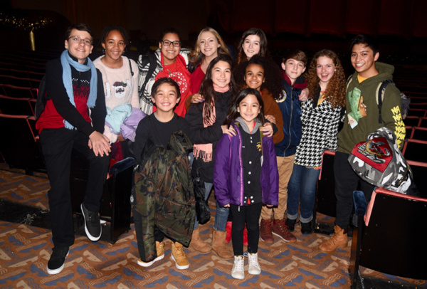 Bonale Fambrini (right) welcomed his Holiday Star Experience friends to the Radio City Music Hall Christmas Spectacular where he is performing the role of Patrick.