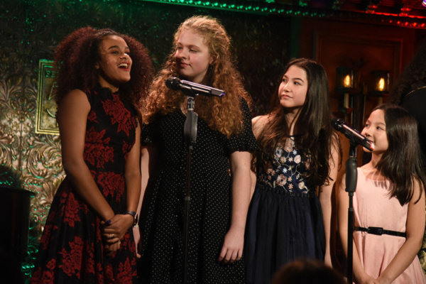 Gianna Harris (School of Rock) with Anakeesta Ironwood, and sisters Phoebe Young (Weightless) and Keira Belle Young (The King And I).