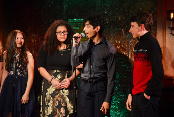 From left to right: Phoebe Young (Weightless), Sammie Smith, Diego Lucano (School Of Rock), and Aidan Duver.