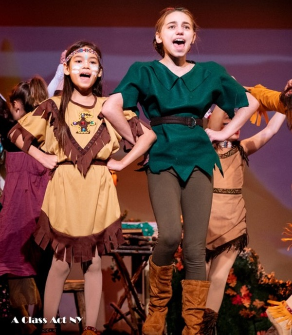 Galaxy Rose Berman as Tiger Lily and Lindsay Waldman as Peter Pan in ACANY's PETER PAN JR.