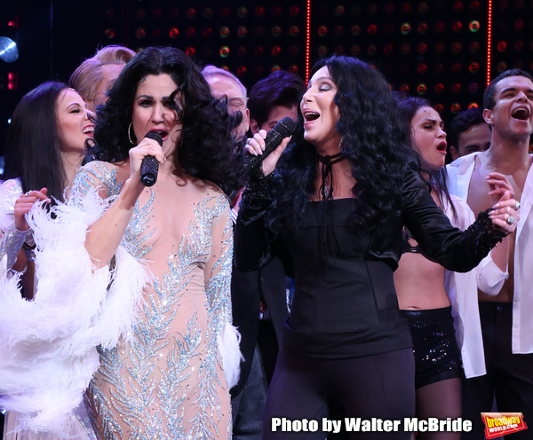 Stephanie J. Block and Cher with cast d