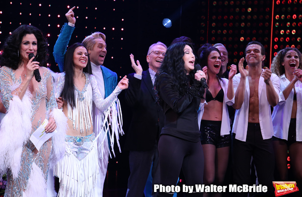 Stephanie J. Block, Teal Wicks, Michael Berresse, Bob Mackie and Cher with cast Photo
