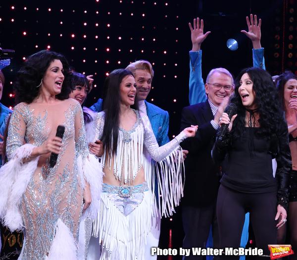 Stephanie J. Block, Teal Wicks, Michael Berresse, Bob Mackie and Cher  Photo