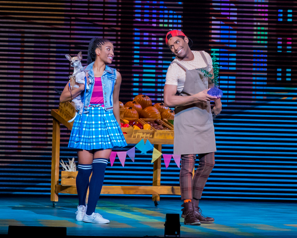 Camille Eanga-Selenge as Dorothy, Eric Craig as Dale (Tin Man). Photo by Racheal McCa Photo