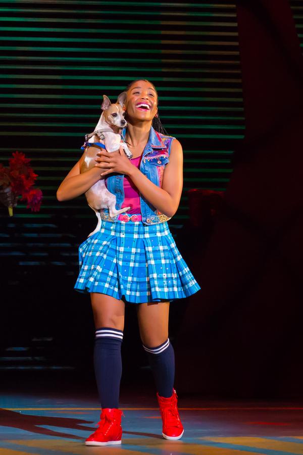 Camille Eanga-Selenge as Dorothy, Olive as Toto. Photo by Racheal McCaig Photo