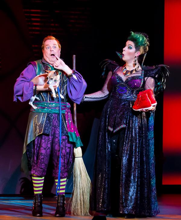 Eddie Glen as Randy, Sara-Jeanne Hosie as Sulphura The Wicked Witch of the West. Phot Photo