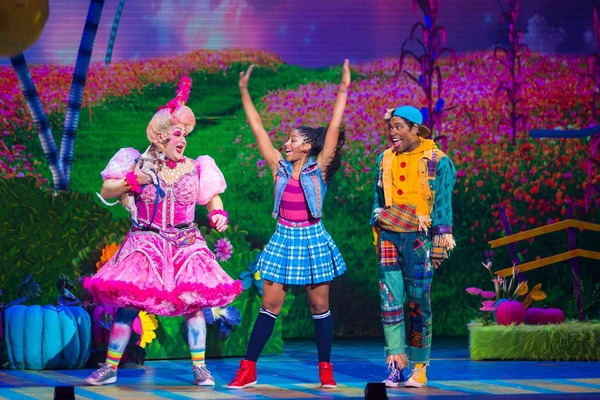 Michael De Rose as Sugarbum The Good Witch of the North, Camille Eanga-Selenge as Dor Photo