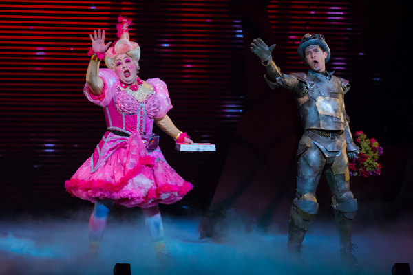 Michael De Rose as Sugarbum The Good Witch of the North, Eric Craig as Tin Man. Photo Photo