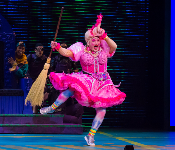 Michael De Rose as Sugarbum The Good Witch of the North in The Wizard of OZ 1. Photo  Photo